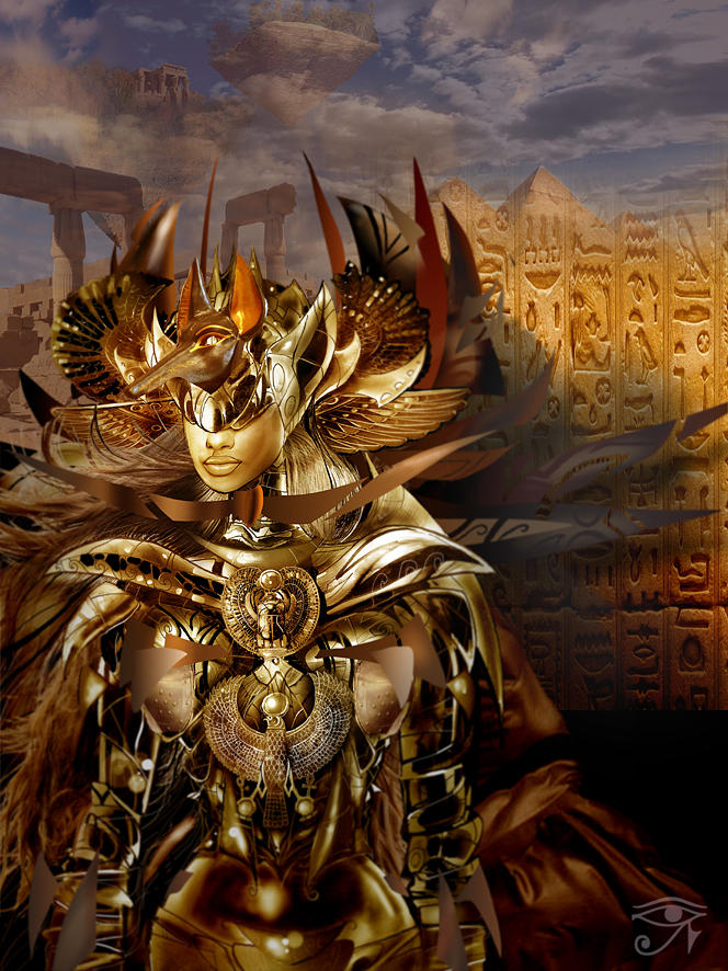 Egyptian Goddess Digital Art by Fabrizio Uffreduzzi
