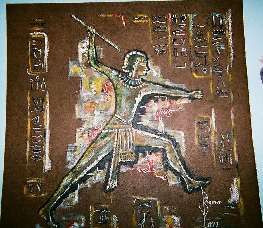 Egyptian Painting - Egyptian Hunter Warrior by Lulu Brymer