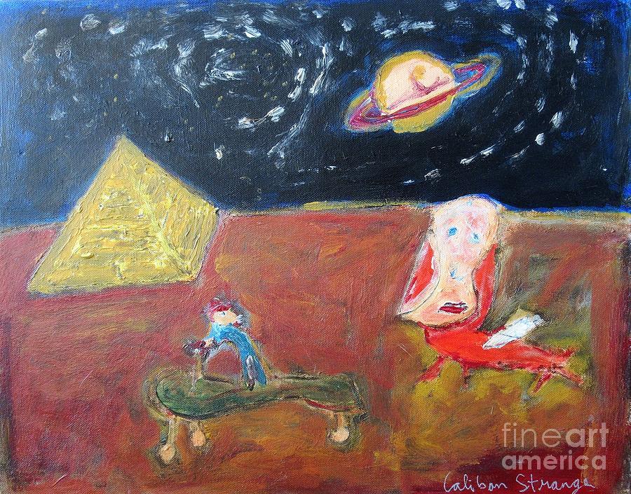 Fantasy Painting - Egyptian Landscape by Caliban Strange