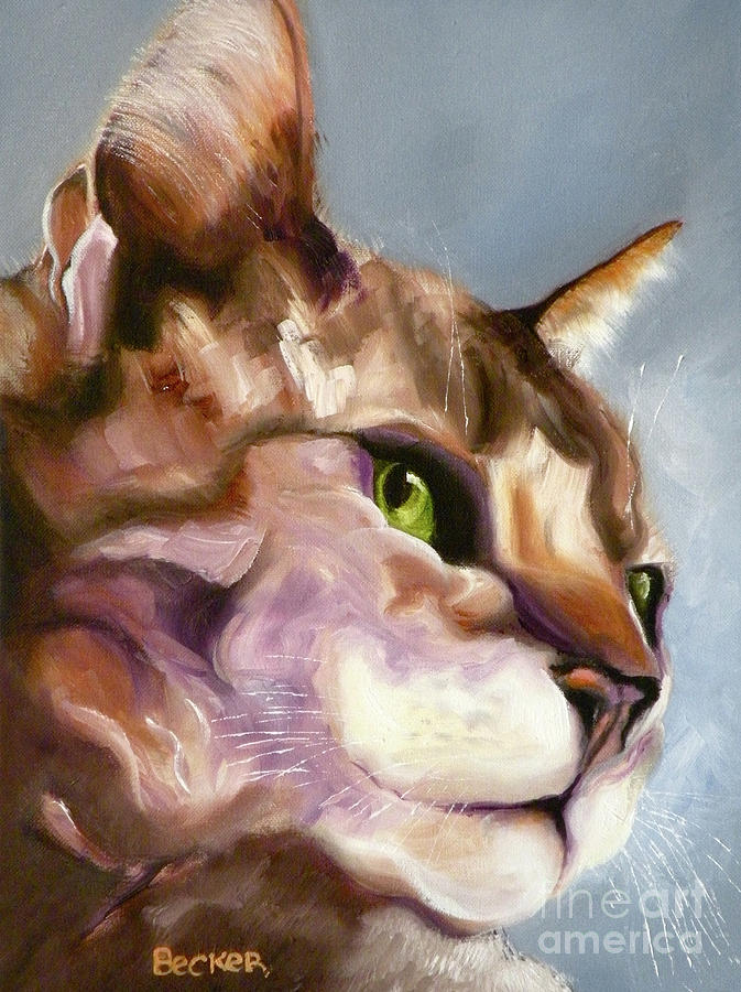 Cat Painting - Egyptian Mau Princess by Susan A Becker