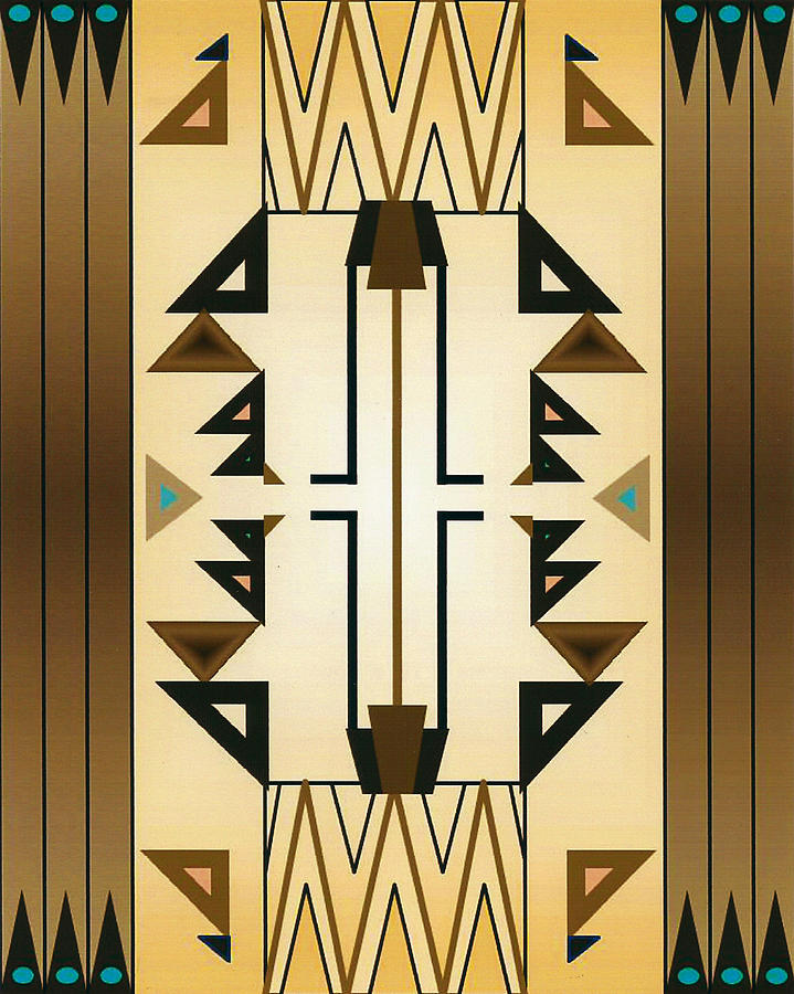 Egyptian Digital Art - Egyptian Moderne by Tara Hutton