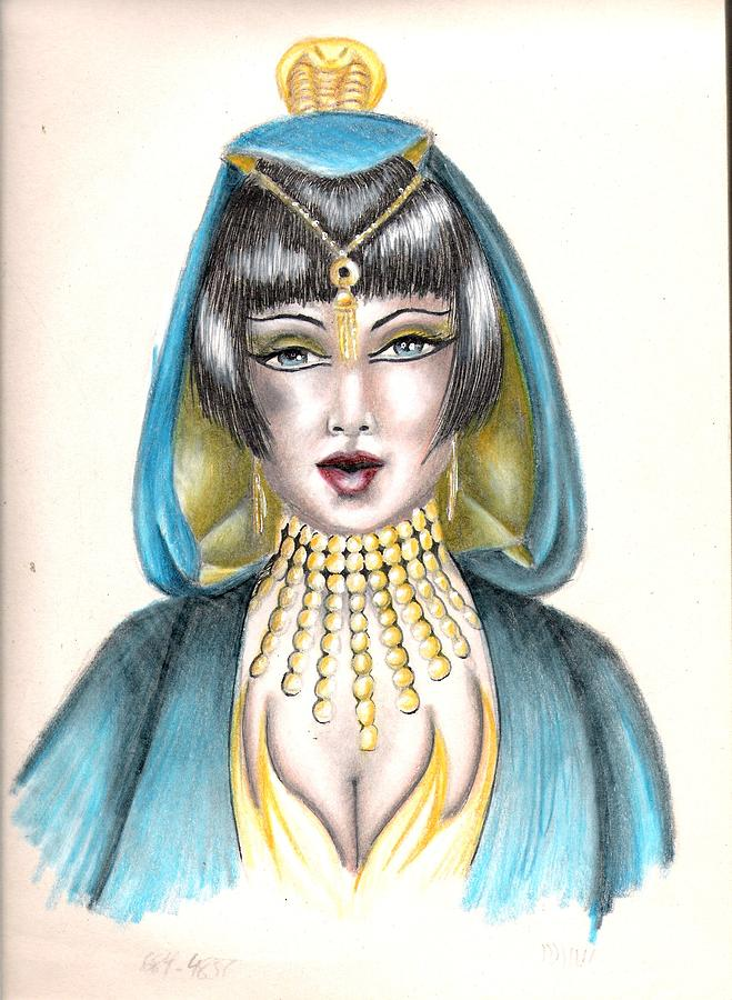 Colored Pencil Drawing - Egyptian Princess by Scarlett Royal