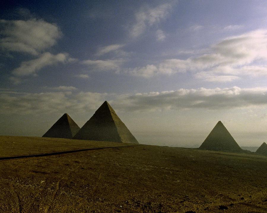 Giza Photograph - Egyptian Sunrise by Gary Wonning