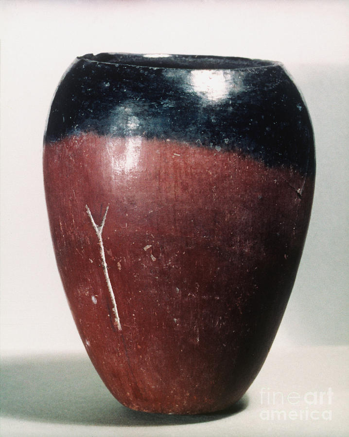 African Photograph - Egyptian Vase, C4000 B.c by Granger