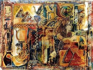 Egypt Mixed Media - Egytian Quest by Estelle Hartley