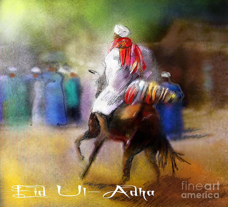 Eid Ul Adha Festivities Painting by Miki De Goodaboom