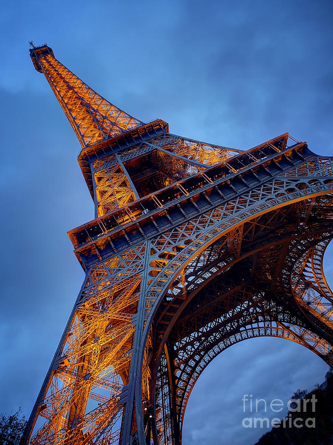 Eiffel Dressed in Gold by Kim Andelkovic