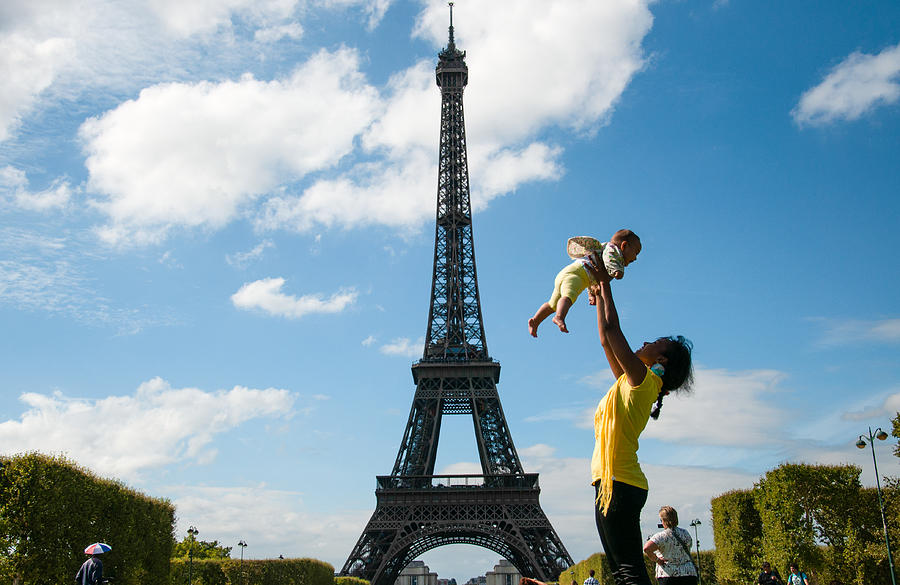 Paris Photograph - Eiffel Family by Freepassenger By Ozzy CG