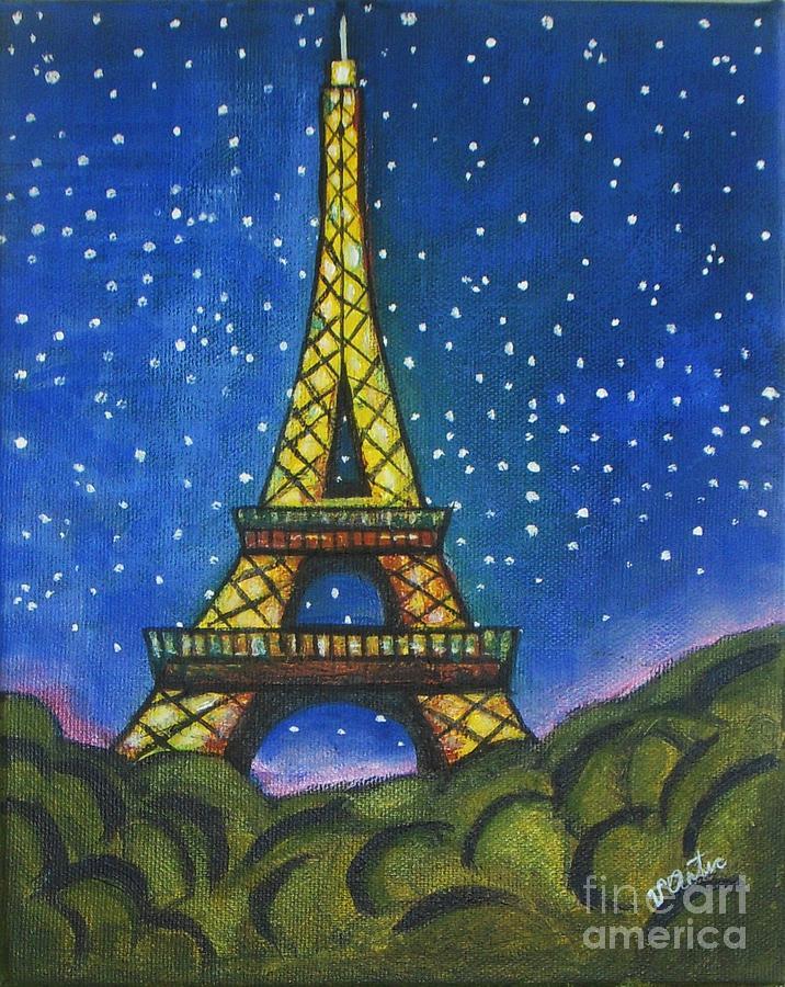 eiffel in starry night painting by vesna antic Ham Radio Antenna Clip Art Ham Radio Clip Art