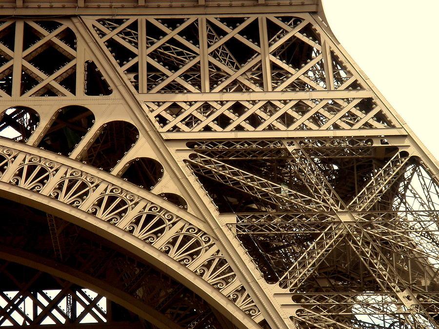 Paris Photograph - Eiffel Structure 2 by John Julio