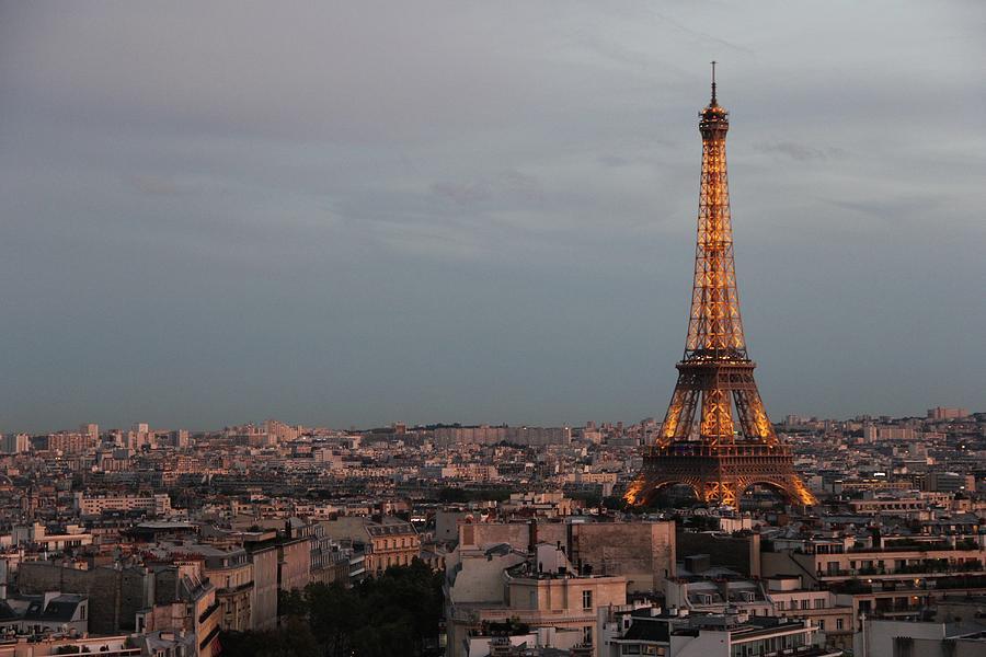 Eiffel Tower Photograph - Eiffel Tower At Dusk by Sean Flynn