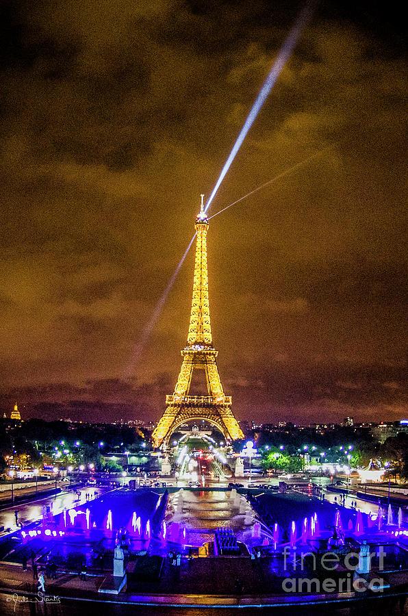 Eiffel Tower At Night #2 Photograph