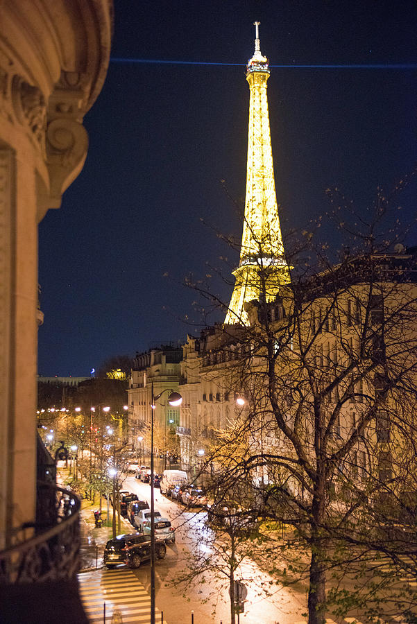 Eiffel Tower At Night Photograph By Stephen Simpson