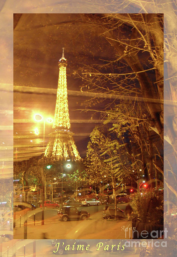 Paris Photograph - Eiffel Tower By Bus Tour Greeting Card Poster by Felipe Adan Lerma