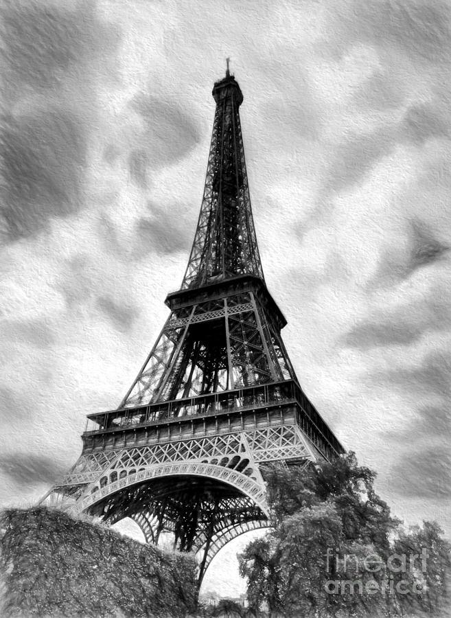 Eiffel Tower Photograph - Eiffel Tower Dream Bw by Mel Steinhauer