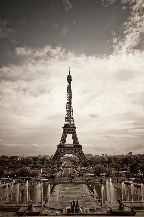 Vertical Photograph - Eiffel Tower by Ei Katsumata