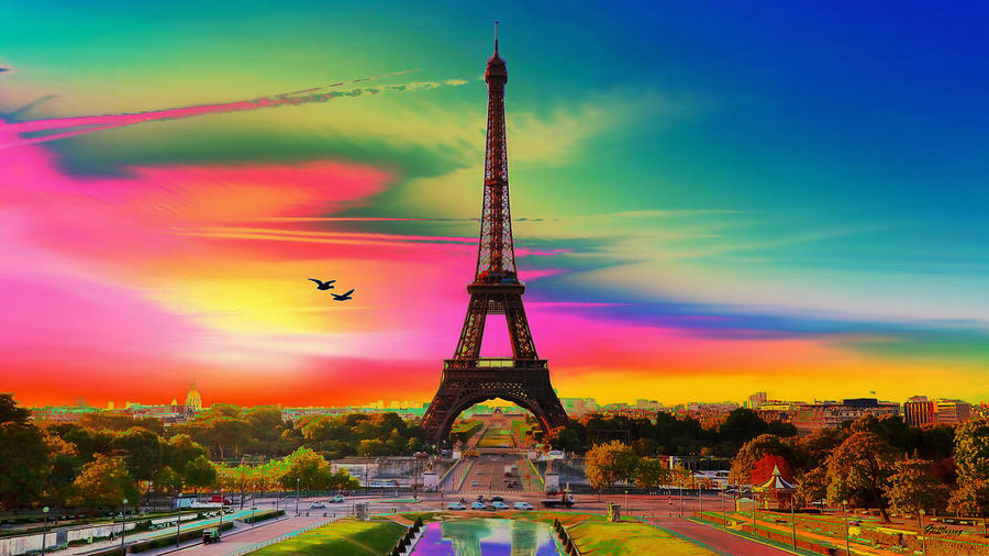 Eiffel Tower Digital Art - Eiffel Tower by Gregory Murray