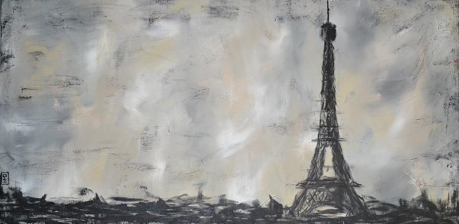 Eiffel Tower Painting - Eiffel Tower by Holly Donohoe