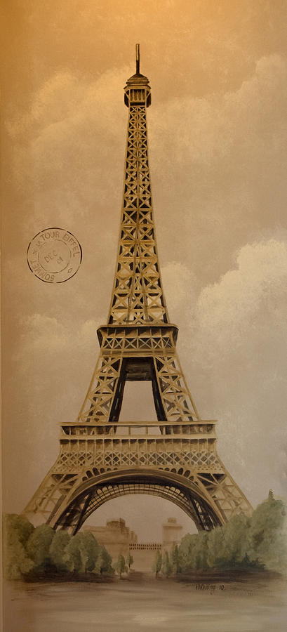 Eiffel Tower Painting - Eiffel Tower by Holly Whiting