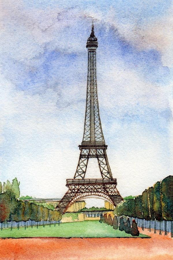 Painting Of Eiffel Tower For Sale