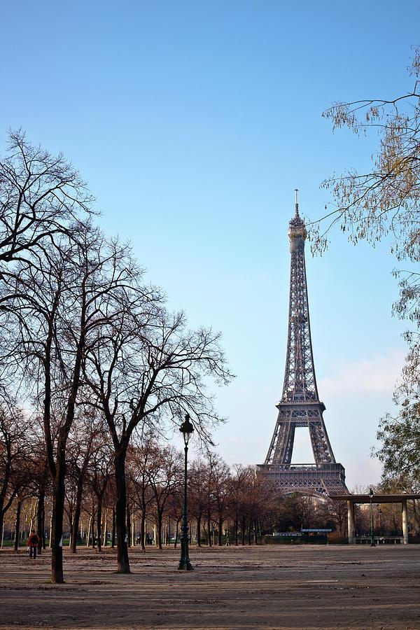 Vertical Photograph - Eiffel Tower In Paris by Tuan Tran