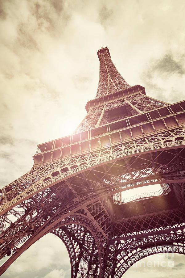 Eiffel Photograph - Eiffel Tower In Sunlight by Jane Rix