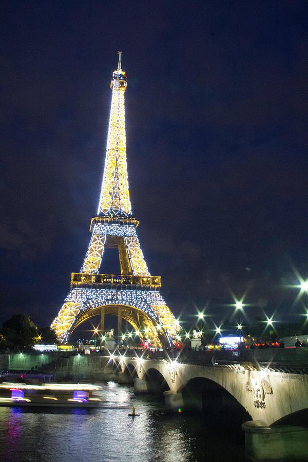 Eiffel Tower Night Paris Photograph By Lila Bahl