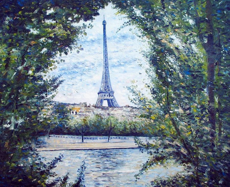 Eiffel Tower Paris France 2001 Painting By Enver Larney