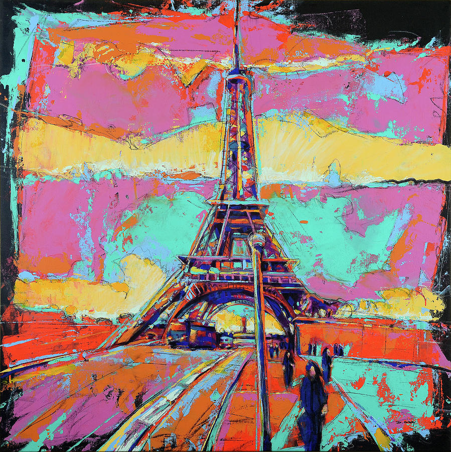 Eiffel Tower in Color by Damon Gray