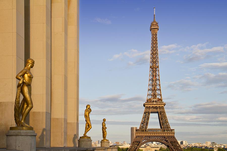 Historic Photograph - Eiffel Tower Paris Trocadero  by Melanie Viola