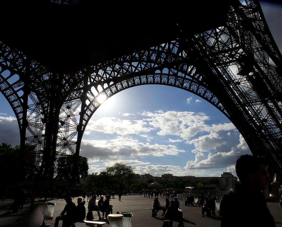 Eiffel Tower Sky Painting by Rosie Brown