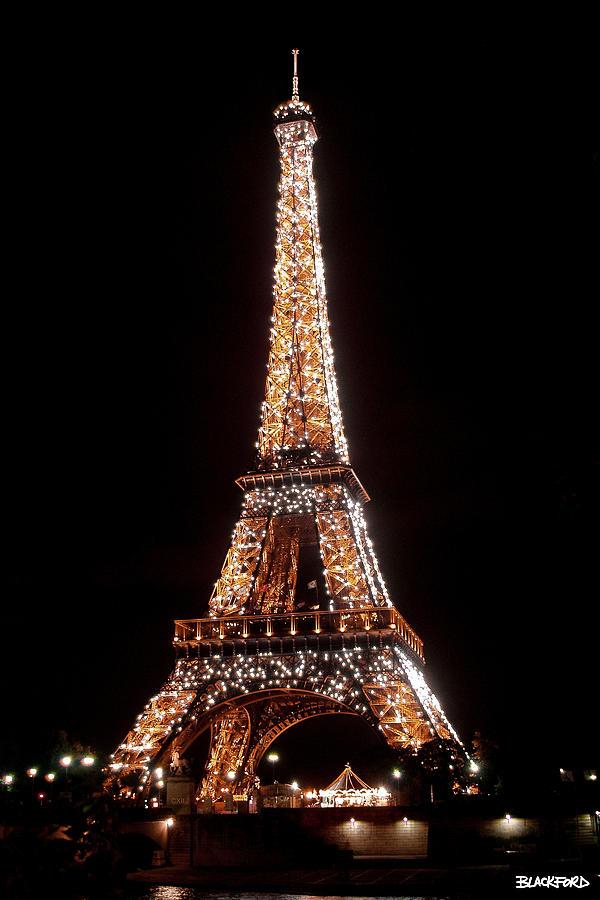 Eiffel Tower Sparkling Photograph By Al Blackford