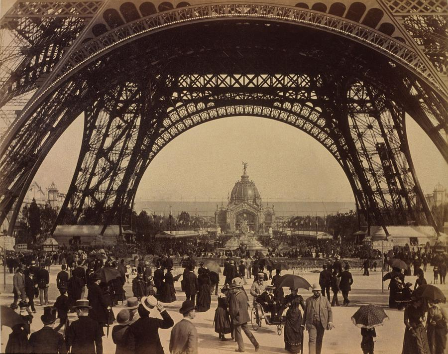 History Photograph - Eiffel Tower, View Toward The Central by Everett