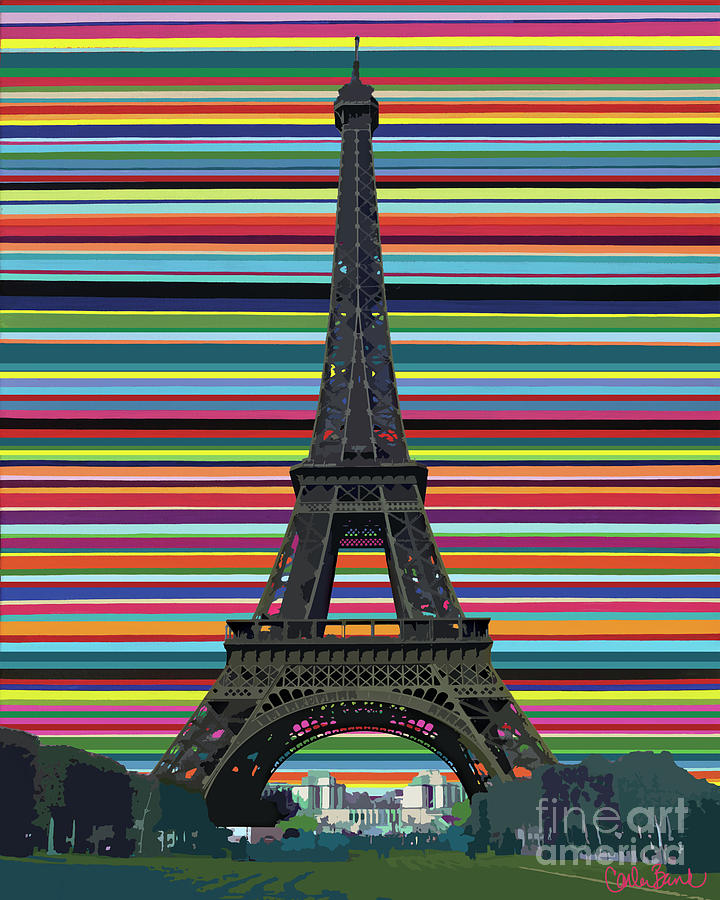 Eiffel Tower Painting - Eiffel Tower With Lines by Carla Bank