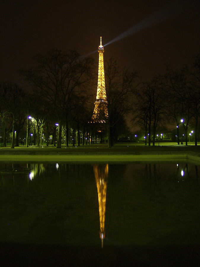 Eiffel Photograph - Eiffel Twin Reflection by Mark Currier
