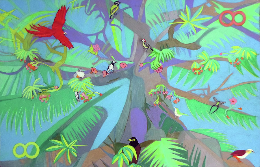 Eight Painting - Eight Branches Over Ocho Rios by Denise Weaver Ross