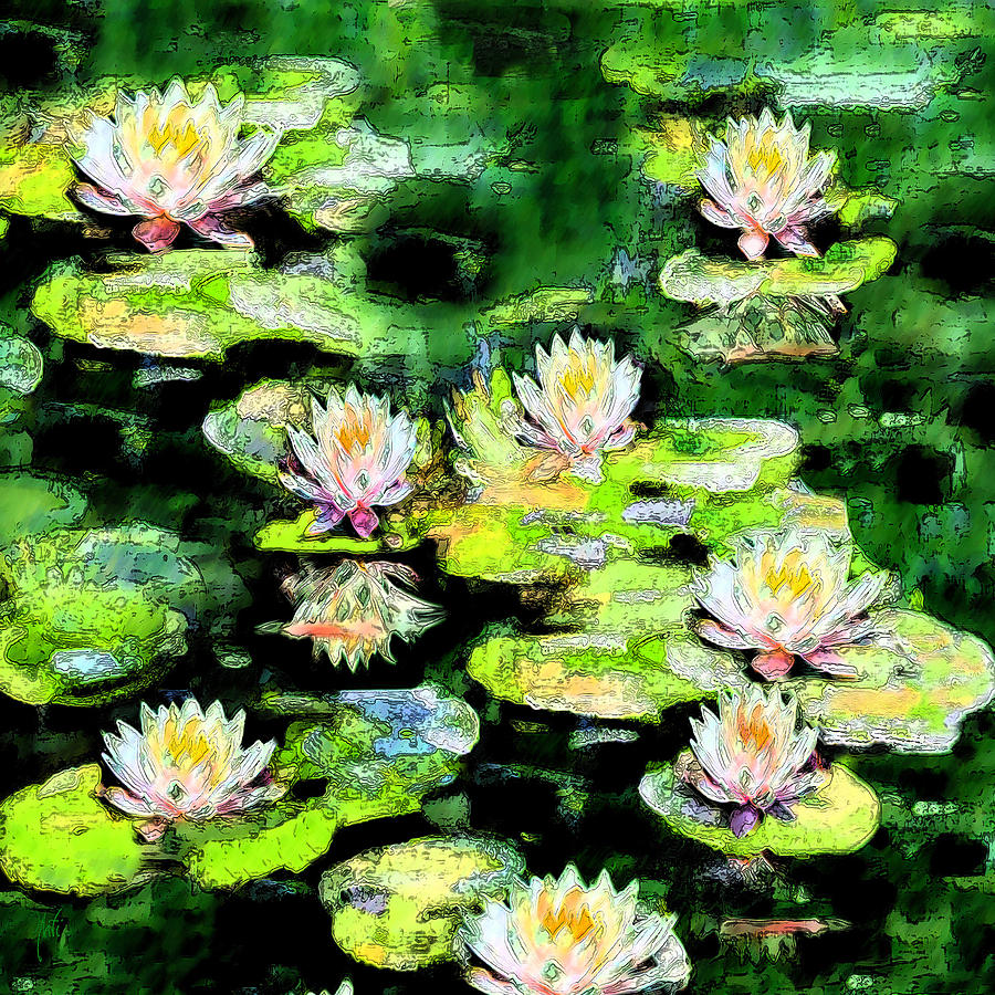 Eight #waterlilies Painting
