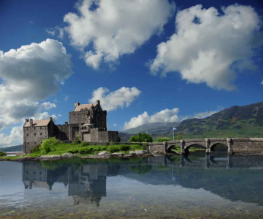 Eilean Donan Castle Photograph - Eilean Donan Castle by Don and Bonnie Fink
