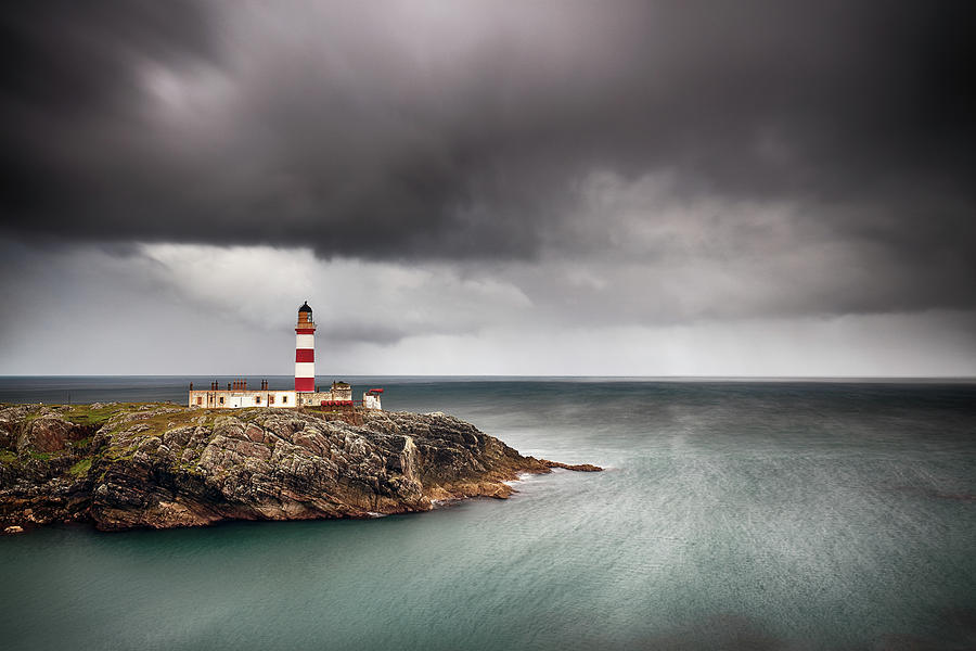 Scottish Lighthouse Photograph - Eilean Glas Lighthouse 5 by Grant Glendinning