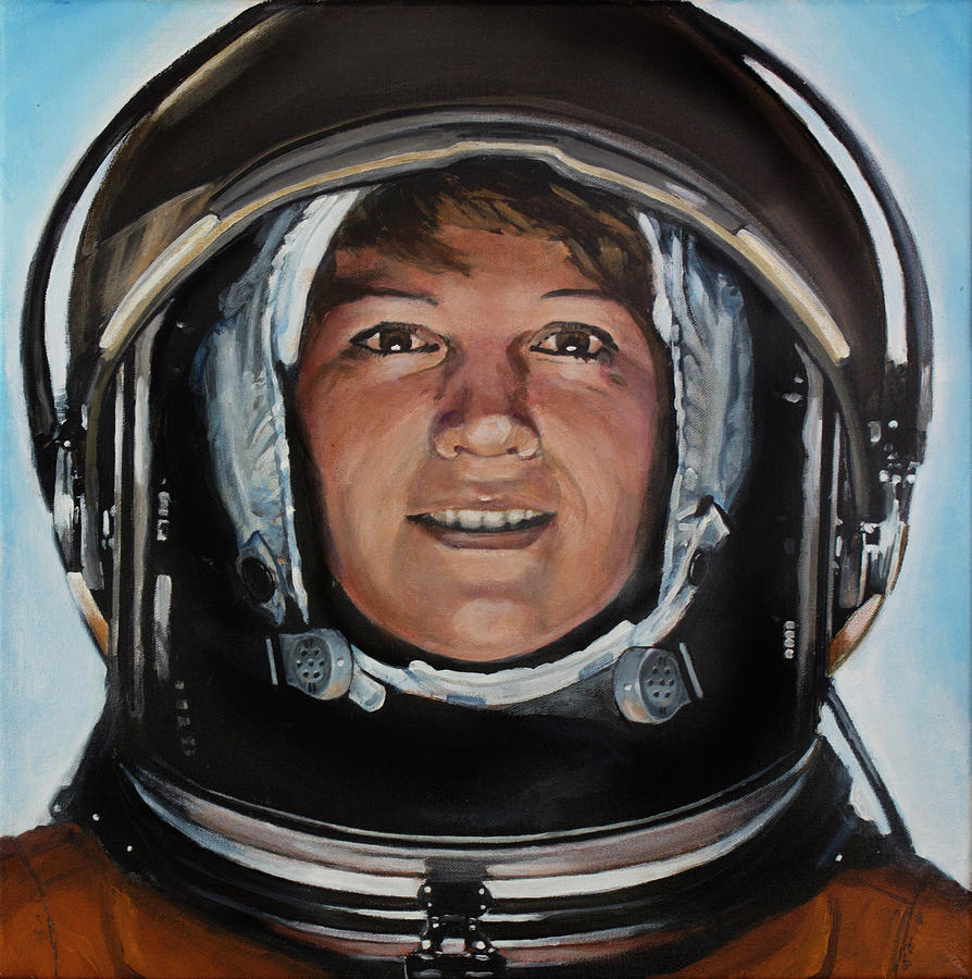 Eileen Collins Painting by Simon Kregar