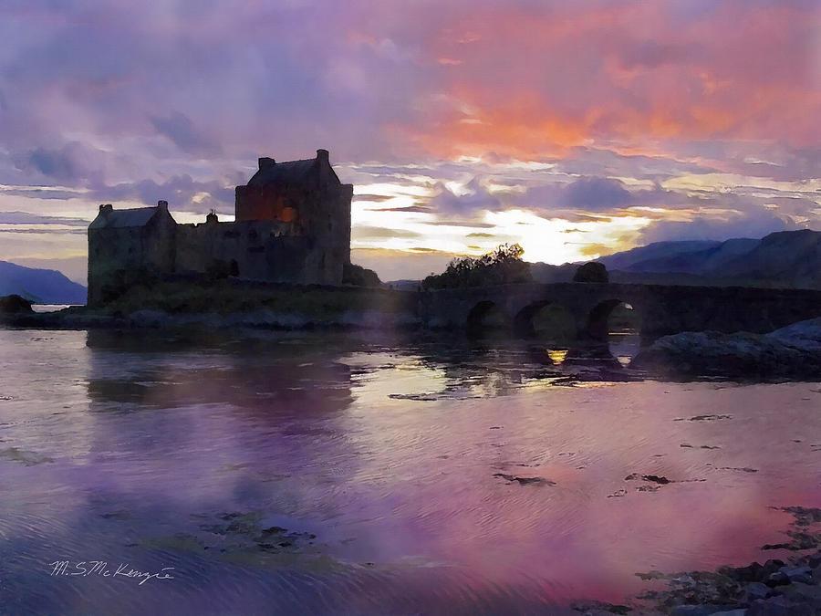 Scotland Painting - Eileen Donan by M S McKenzie