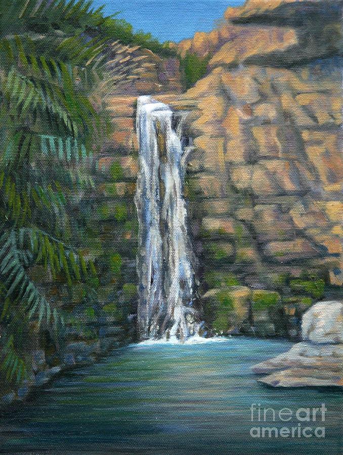 Water Painting - Ein Gedi by Jane  Simonson