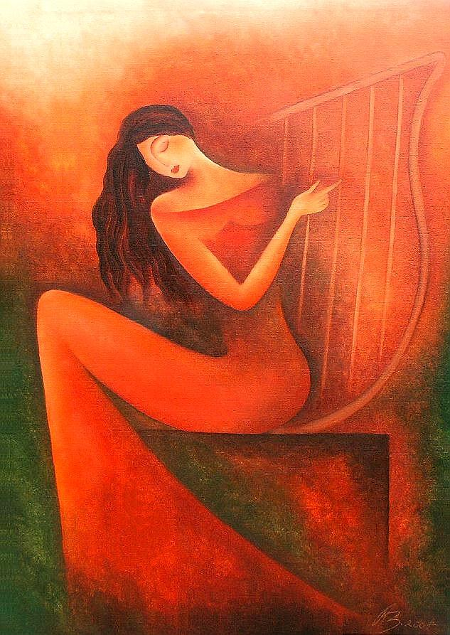 Woman Painting - ein leises Lied by Anita Burnaz