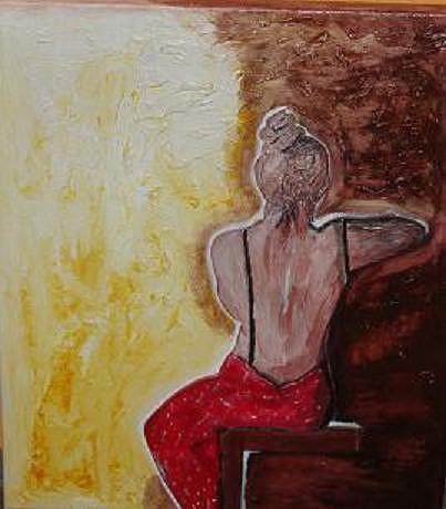 Frau Painting - Ein Schoener Ruecken Kann by Mamu Art