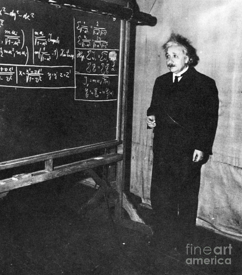 Science Photograph - Einstein At Princeton University by Science Source