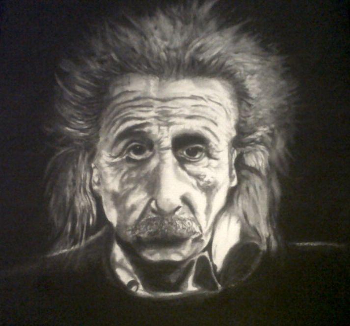 Einstein Drawing by Danny Danals
