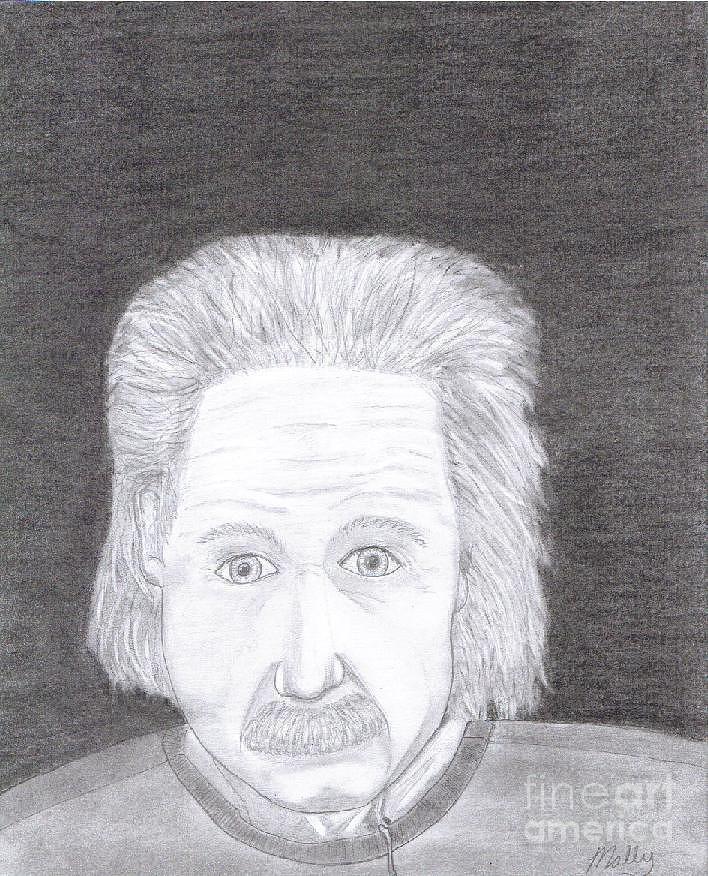 Mally Drawing - Einstein by Jason Mally