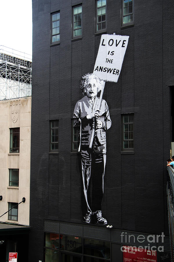Einstein Painting And Quote Photograph