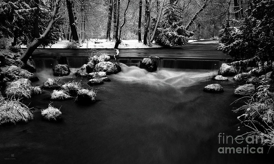 Creek Photograph - Eisbach In The Winter by Hannes Cmarits