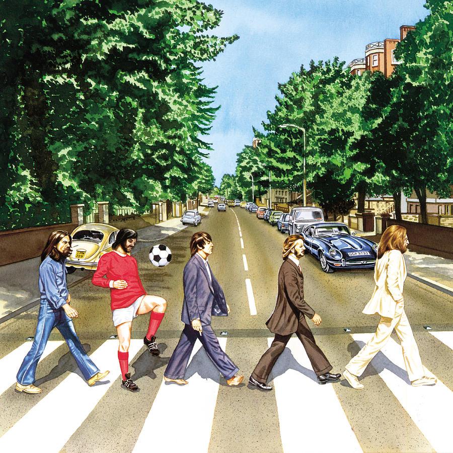 George Best Painting - El Beatle by John Hebb
